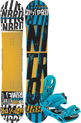 NITRO PRIME STACKED 152 2015 inkl STAXX blue Snowboard Set inkl. Bindung