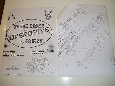 Classic Rangerover,fairey Overdrive Fitting Instruction