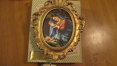 Vintage  Reuge Wall Mount Music Box:  When You Wish Upon a Star -Nativity NOS