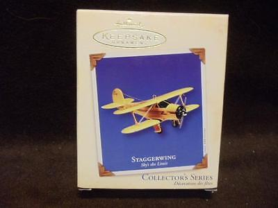 2002 Hallmark Keepsake Ornament Staggerwing Sky's the Limit Airplane Collectible