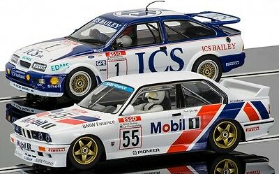 C3693A Scalextric Touring Car Legends - Ford Sierra RS500 Vs BMW E30 - New