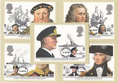 GB - PHQ Cards - 1982 - Maritime Heritage - FDI H/S Front