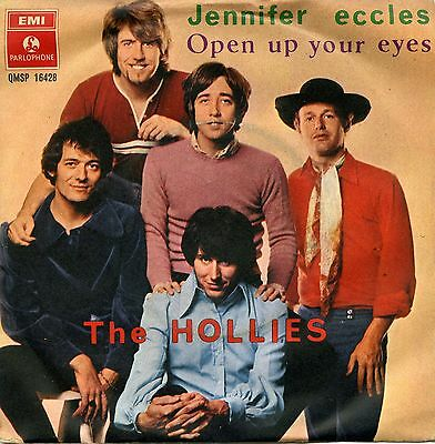 """The Hollies Jennifer Eccles Open Up Your Eyes 7"""" Italy Rare Cover"""