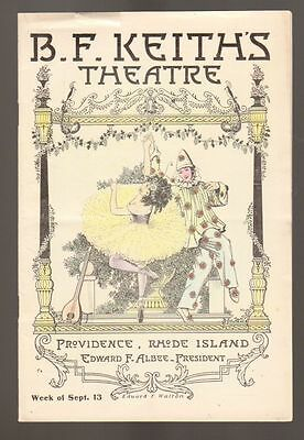 BF Keith's Theatre Program 1915 Providence Rhode Island Great Advertisements