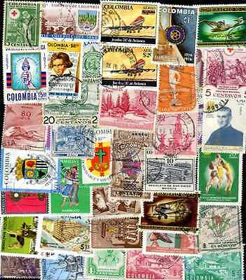 COLOMBIE - COLOMBIA collections de 50 à 300 timbres différents