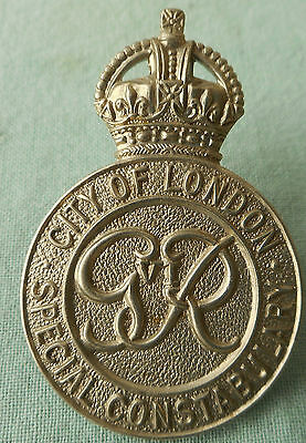 Vintage City Of London Special Constabulary Cap Badge