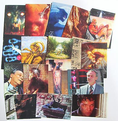 Collection Of X Files Trading Cards