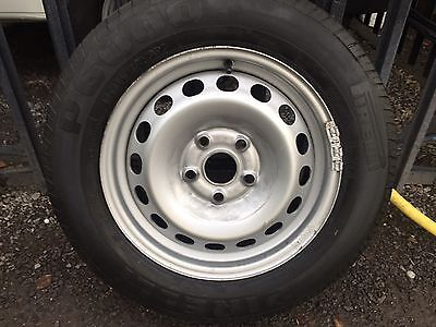 "Set of 4 x (VW Caddy) 15 "" Steel Wheels & Tyres (good condition)"