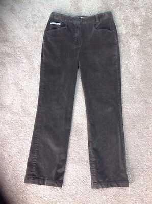 Ladies - One Up Golf Thick Warm Brown Cord Trousers -Size 12
