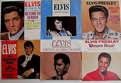 "ELVIS PRESLEY PICTURE SLEEVE 7"" SINGLE COLLECTION JOBLOT VINYL Rare Cover"