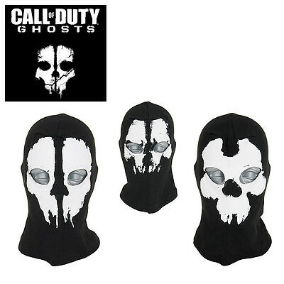 "Cagoule 2 Trous Balaclava Masque Airsoft Tete De Mort Call Of Duty Ghost ""neuf"""