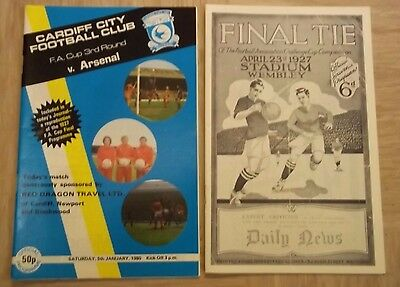 FA CUP THIRD ROUND PROGRAMME CARDIFF CITY v ARSENAL 5th JANUARY 1980 EXCELLENT