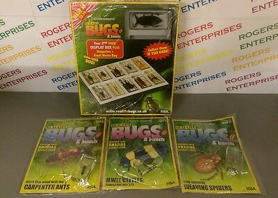 National Geographic Real-Life Bugs & Insects Issues 8/9/10/11 inc DISPLAY CASE