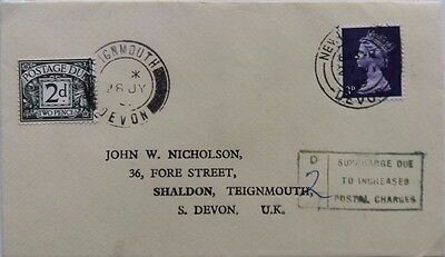 Great Britain 1969 Newton Abbott Underpaid Cover With Teignmouth Postage Due
