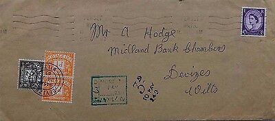 1963 Pewsey Underpaid Cover With 2 X ½ D + 2 D Postage Due Stamps Devizes
