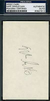 Mike Singletary Early Psa/dna Hand Signed 3X5 Index Card Authentic Autograph
