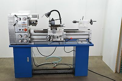 "Pm1236Pep Metal Working Lathe, 1-1/2"" Spindle Bore, Qctp, 3&4 Jaw Chucks + More!"