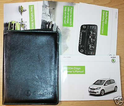 Skoda Citigo Handbook Owners Manual Wallet 2012 -2015 Pack 9298