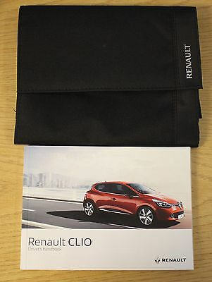 Renault Clio Owners Manual Handbook Wallet + Service Book 2013-2016 Pack