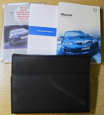 Mazda 6 Handbook Owners Manual Wallet 2002-2008 Pack 4754