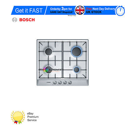 BOSCH PCP 615B80R  Built-in Brushed Steel Kitchen Gas Hob Brand New !!!