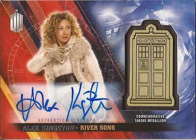 "Doctor Who Timeless - Alex Kingston ""River Song"" Autograph Medallion Card #06/10"