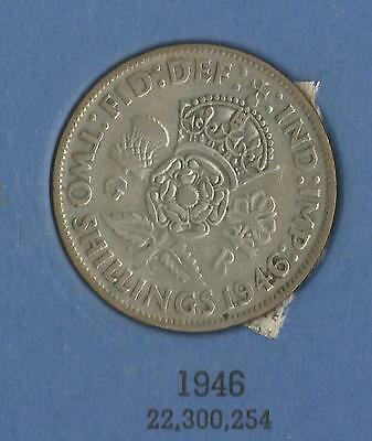 1946 George VI KGVI  Florin / Two shilling coin good circulated