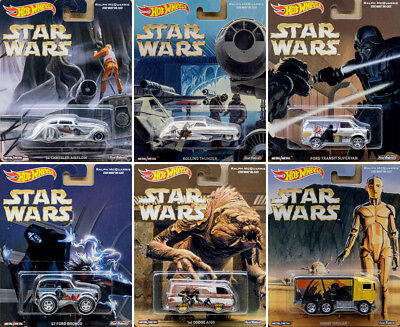 Star Wars Set Krieg der Sterne (6 Modellautos) in 1:64 Hot Wheels DLB45
