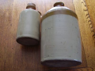 Two Vintage Stoneware / earthenware jugs/ flagons