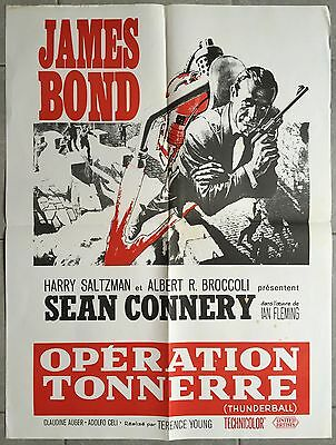 Affiche OPERATION TONNERRE Thunderball SEAN CONNERY James Bond R60x80cm