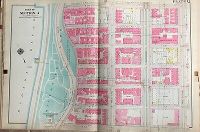 1909 Ps 93 Soldiers & Sailors Monument Manhattan Ny W89Th To W95Th St Atlas Map