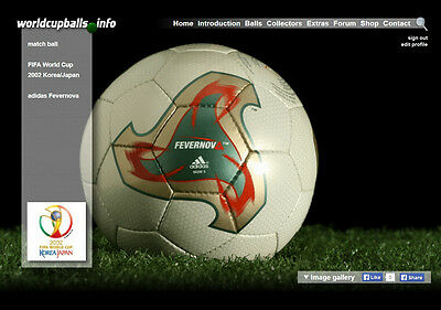 The official ball of the 2002 FIFA World Cup in Korea/Japan: ADIDAS FEVERNOVA
