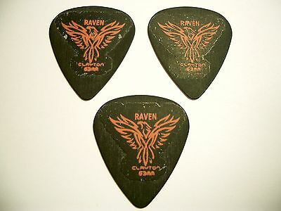 3 Clayton Black Raven Plektren 0,80 mm Plektrum