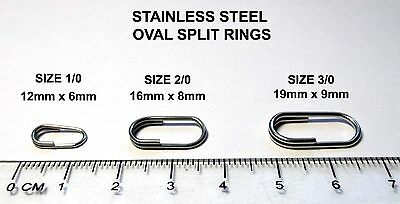 Oval Stainless Steel Split Rings, 3 Sizes, 1/0,2/0,3/0 - Rigs,leads, Links