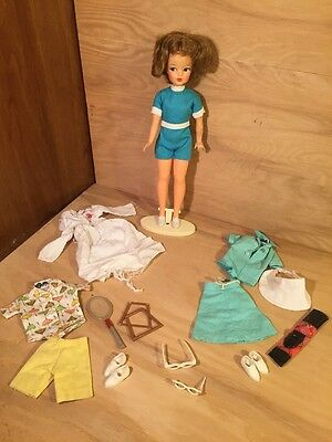 Vintage Ideal TAMMY Doll LOT w/ Clothes Accessories ETC golf EYEGLASSES tennis