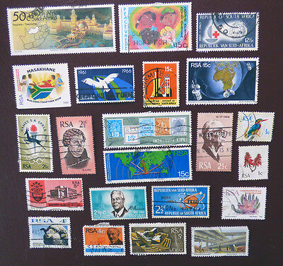 South Africa x40 mixed stamps - TWO SCANS