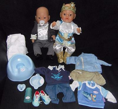 Baby Annabell Boy Brother Dolls Magic Eyes With Clothes Prince Groom Accessories