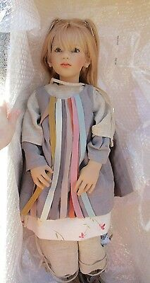 """Annette Himstedt 32"""" Club Doll """"Miri""""- Certificate  Boxes - 2002 limited edition"""