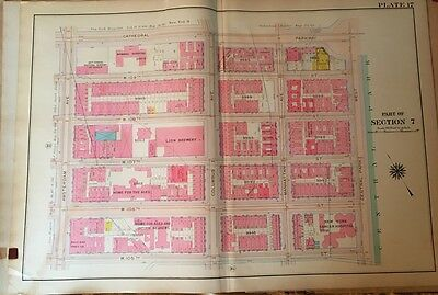 1909 New York Cancer Hospital Manhattan Cathedral Pwy To W105 Th St Atlas Map