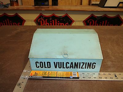 VinTaGE COLD VULCANIZING Tire Patch Cabinet Counter Display Gas Oil REPURPOSE