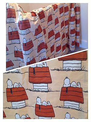 Vintage Fabric/Curtains-Pair-1970/80s-Snoopy