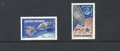 Romania 1969 SG 3647-8  Apollo Space   MNH