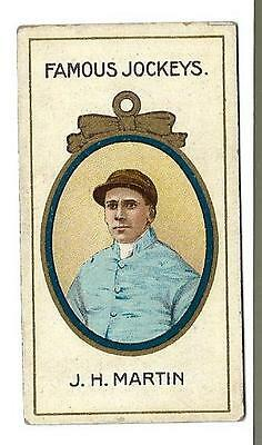 Taddy - Famous Jockeys - J.h. Martin - Genuine Card In Good + Condition