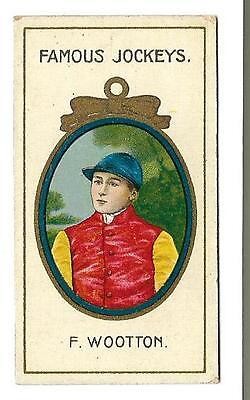 Taddy - Famous Jockeys - F. Wootton - Genuine Card In Very Good + Condition