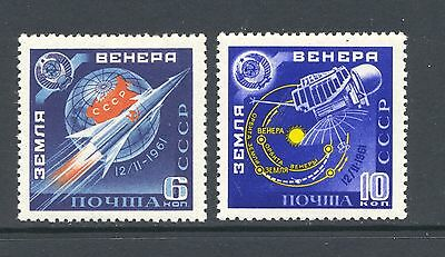 Russia 1961 SG 2571-2 Space Venus Rocket   MNH