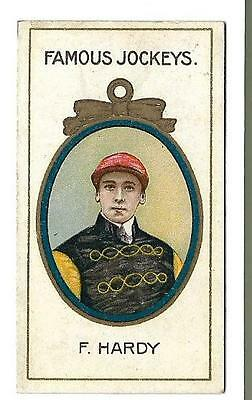 Taddy - Famous Jockeys - F. Hardy - Genuine Card In Very Good Condition