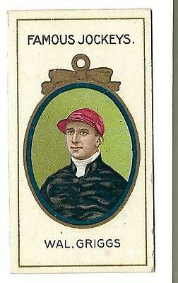 Taddy - Famous Jockeys - Wal. Griggs - Genuine Card In Very Good + Condition