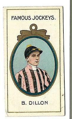 Taddy - Famous Jockeys - B. Dillon - Genuine Card In Good To Very Good Condition