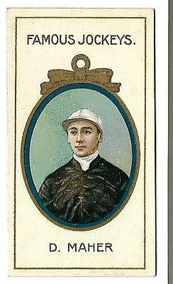Taddy - Famous Jockeys - D. Maher - Genuine Card In Very Good To Exc. Condition