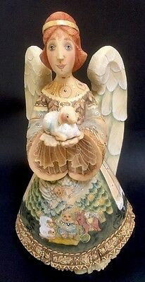 G. DeBrekht Guardian Angel Series Angel Of All Little Ones Holding Lamb Precious